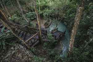 Entering Cenote