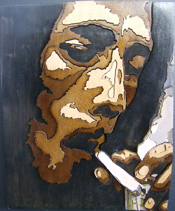 Smoking Bob - Scroll saw art