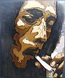 3D Bob Marley portrait: Smokin'