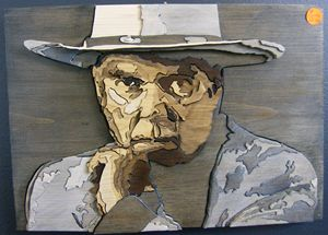 Neil Young - Scroll saw art