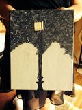 8x10 acrylic lantern painting
