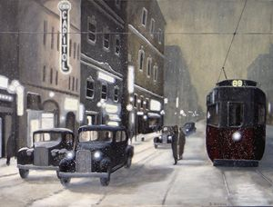 An Evening on Portage Avenue - Dave Rheaume Artist