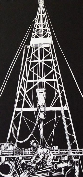 Oil Rig blues#3 - Mitchell Cookson Gallery