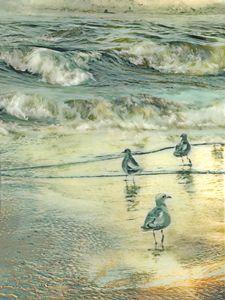 walk at beach