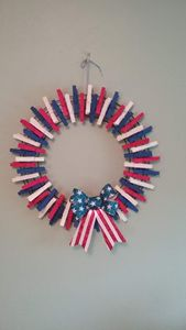 American Flag Clothespin Wreath