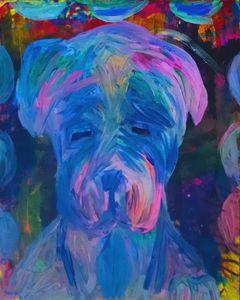 Mastiff Puppy Painting