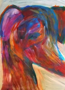 Colorful Greyhound Painting