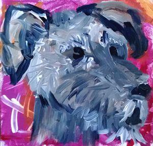 Schnauzer Dog Acrylic Painting