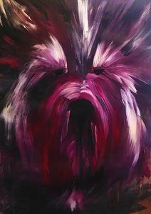 Yorkshire Terrier in Purple