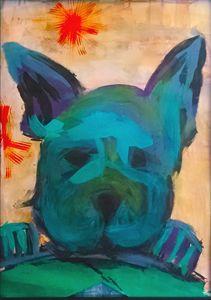 French Bulldog Acrylic Painting