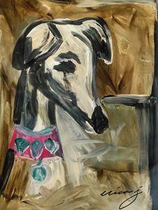 Dog Art -Whippet