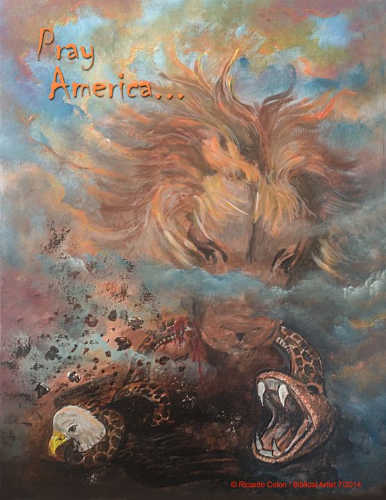 PRAY AMERICA - Prophetic art