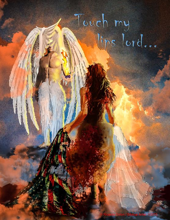 TOUCH MY LIPS LORD - Prophetic art