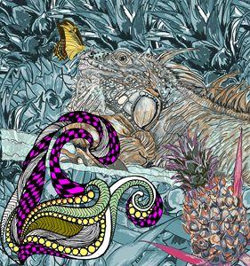 blue iguana lizard