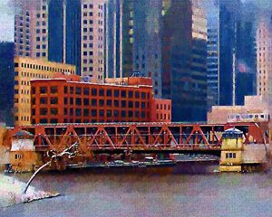 Well St over the Chicago River