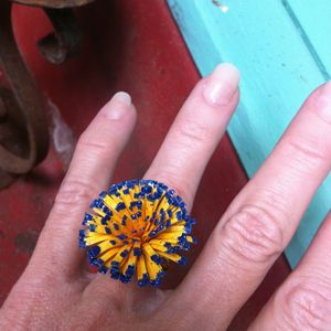 Yellow Flower Ring