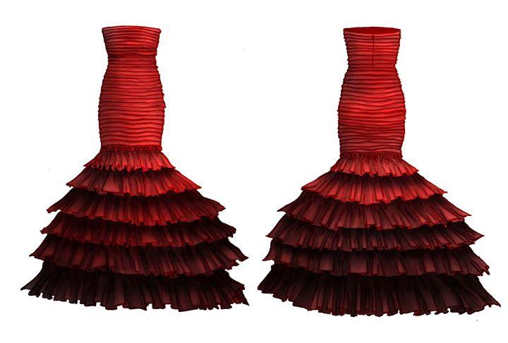 Crimson Dress - Karmaela by Michelle Zhang: Art | Fashion | Design