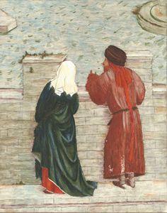 Couple Overlooking a Bridge