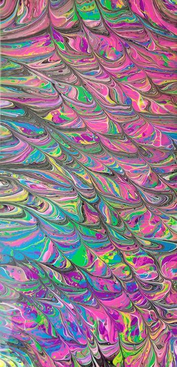 Neon zebra - Acrylics