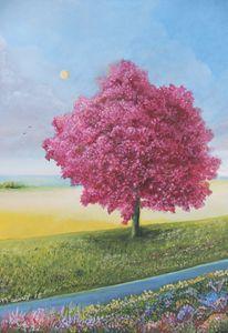 Roble Color Rosa Tree