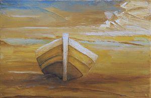Golden Boat in the Golden Beach
