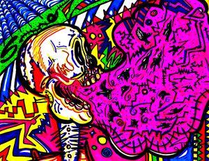 Screaming Skull Pink