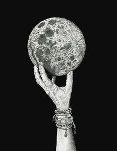 Moon in Her Hand