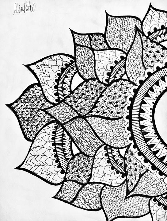 Large Henna Flower - Mira Patel Art