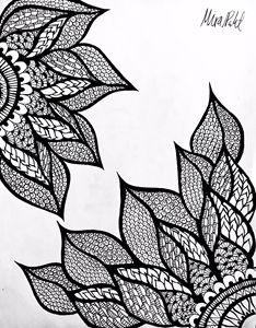 Twin Flower Henna - Mira Patel Art