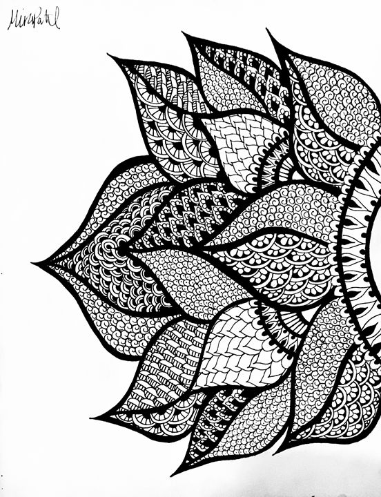 Right Side Henna Flower - Mira Patel Art