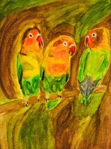 Lovebirds in nature