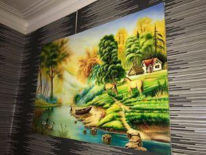 Fantasy Oil On Canvas Hand Drawn