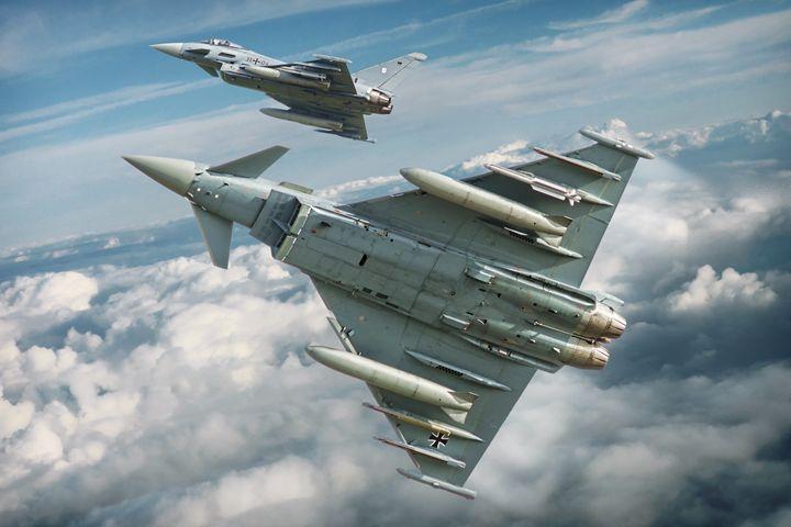 German EF-2000 Typhoon - psdigital art