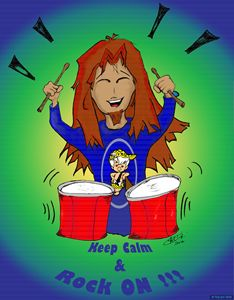 Keep Calm & Rock On (blue)