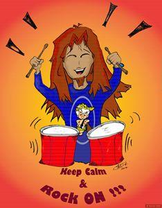 Keep Calm & Rock On (orange)