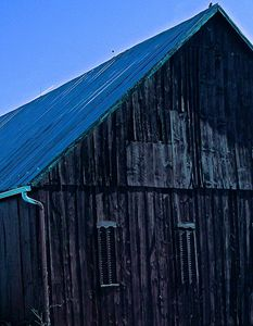 Old Barn Side View