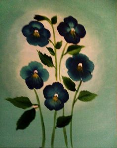 Blue Pansy Family