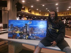 Cutch with my painting!