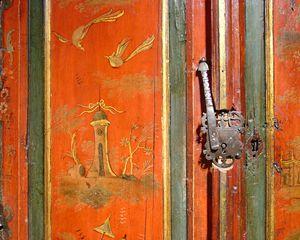 Asian Armoire Detail