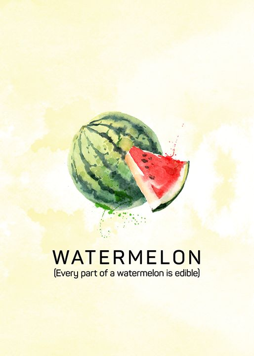 Fun with Fruits - Watermelon - Susanne Floe