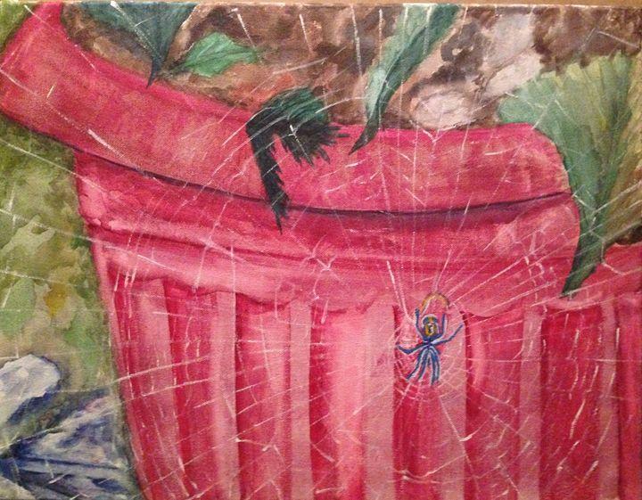 Spider on the Plant Pot - TriniartStudio