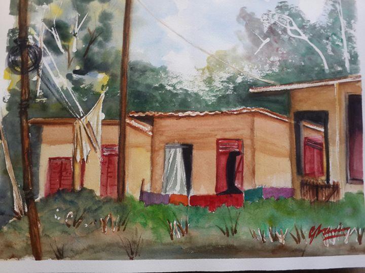 Gran Couva Huts - TriniartStudio
