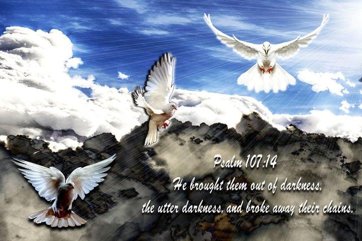 Psalm 107:14 - Art by Cheywings