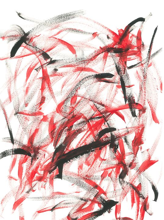 Dancing Paintbrush Red and Black - The Sydney Collection