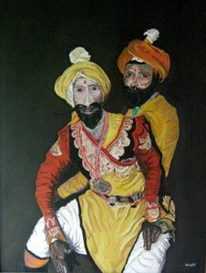 Masked Male Dancers