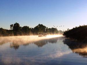 fishing in Kakadu at sunrise