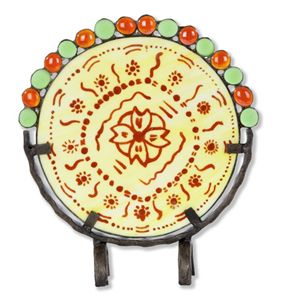 Decorative plate with ethnic motifs