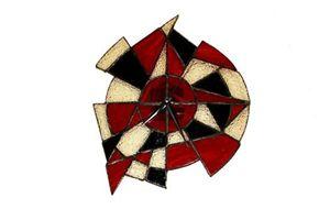 Handmade stained glass clock