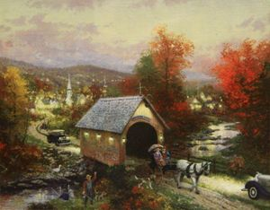 Country memories by thomas Kinkade