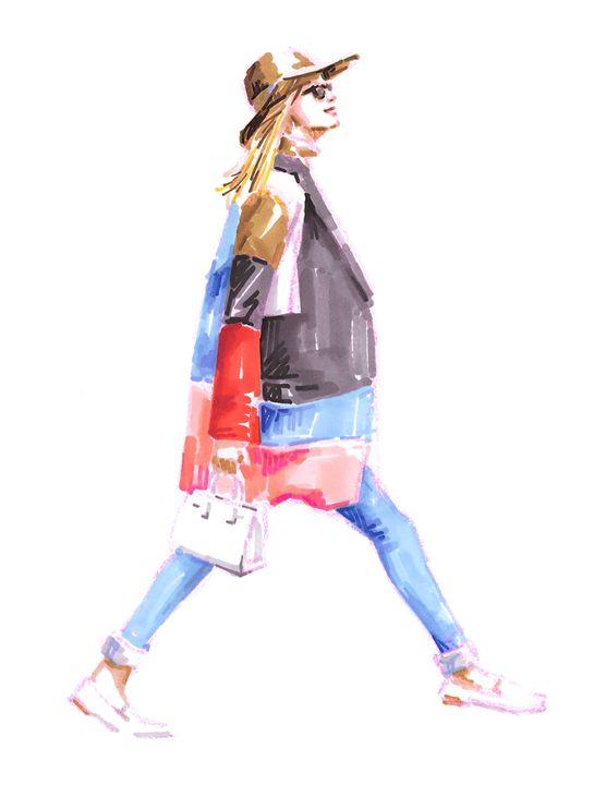 Girl in colorful coat - Jung Eun Kim